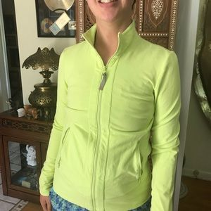 Talbots Jackets & Coats - Talbots zip up with pockets in lime XS like new